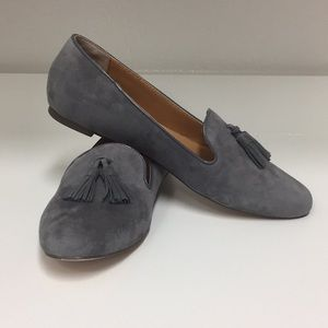 J Crew Gray Loafers/Flats